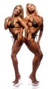 Brenda Kelly (l) Valentina Chepiga (r)