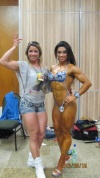 Girl with muscle - Rosangela Leocádio (L) - Day Oliveira (R)