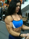 Girl with muscle - Sandra Belen De Oliveira