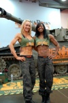 Girl with muscle - Claire Harper (L), Nyisha Jordan (R)