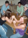 Girl with muscle - Armwrestling