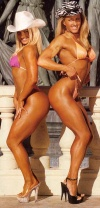 Girl with muscle - Mandy Blank (l); Debbie Kruck (r)