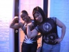 Girl with muscle - Ayanna Carrol (l); Tomoko Kanda (r)