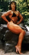 Girl with muscle - Bodybuilder