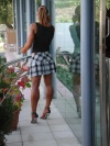 Girl with muscle - plaid skirt