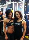 Girl with muscle - Dana Linn Bailey (L) - Laura Jeanne (R)