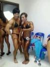 Girl with muscle - Jaranya Dungkam (L) Wilaiporn Wannaklang (R)