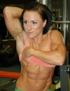 Girl with muscle - karolina holubcova