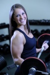 Girl with muscle - Heather Huschle