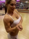 Girl with muscle - April Venture - Gray