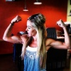 Girl with muscle - samantha