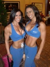 Girl with muscle - Felicia Romero (L) Courtney West (r)