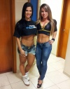 Girl with muscle - Eva Andressa Vieira (l) / Patricia Spezia (r)