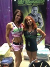 Girl with muscle - Tiani Norman (L) - Tammy Patnode (R)