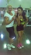 Girl with muscle - Brigita Brezovac (L) - Tracy Bodner (R)