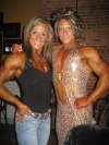 Girl with muscle - Jeannie Paparone (L) - Dena Westerfield (R)