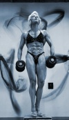 Girl with muscle - Monika Sotirova