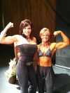 Girl with muscle - Peggy Eberhart (L) - Dana Maples Lowe (R)