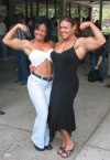 Girl with muscle - Vivianna Requena(L) Colette Nelson (R)