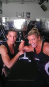 Girl with muscle - Tracy Nelson (L) - Stefanie Webb (R)