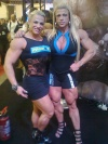 Girl with muscle - Simone de Oliveira (L) Anne Luise Freitas (R)