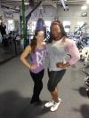 Girl with muscle - Morgan W. Williams (L) - Monique Jones (R)
