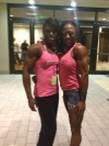 Girl with muscle - Miava Nelson (L) - Laveca Smith (R)