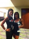 Girl with muscle - Bridgette Nichole (L) - Trina Thompson (R)