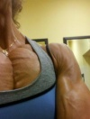 Girl with muscle - Michelle Lewis Shepherd
