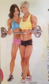 Girl with muscle - Tegan Campbell (L) Emillie-Jean Bisgrove-Cole (R)
