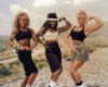 Girl with muscle - Carrie (L) - Theresa Minor (C) - Vicki Sims (R)