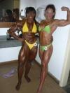 Girl with muscle - Maria Aparecida-Bradley (L) - Gilberia Cunha (R)