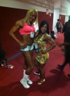 Girl with muscle - Jaqueline Costa (L) - Selma Labat (R)