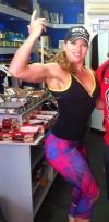 Girl with muscle - dana