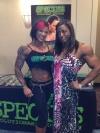 Girl with muscle - Mikaila Soto (L) - Monique Jones (R)