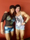 Girl with muscle - Monica Martin (L) - Ana Claudia Macedo Pires (R)