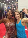 Girl with muscle - Tiffany Mosley (L) - Rachel Baker (R)