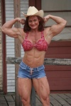 Girl with muscle - Pam Franklin