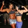 Girl with muscle - Asha Hadley (l) Dana Linn Bailey (r)
