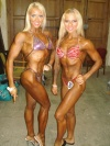 Girl with muscle - Vilma Raciene (L) - Renata Marcinkute (R)