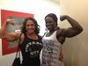 Girl with muscle - Anne Sheehan Dudash (L) - Miava Nelson (R)
