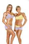 Girl with muscle - Raechelle Chase (l); Jamie Eason (r)