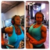 Girl with muscle - thina