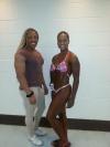 Girl with muscle - Audry Pritchett-Peden (L) - Tia Douglass (R)