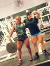 Girl with muscle - Jennifer Tejada (L)  - Hazel Piazza (R)