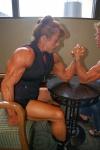 Girl with muscle - Patty Corbett (L) - Nancy J. Brigham (R)