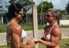Girl with muscle - Franciely Petersen (L) Geisi Everson Diel (R)