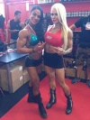 Girl with muscle - Cristina Arellano (L) - Larissa Reis (R)