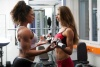 Girl with muscle - Leslie Louis-Pierson (L) - Lara Linda Louis (R)