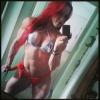 Girl with muscle - Iara Janaina (Red Sonja)